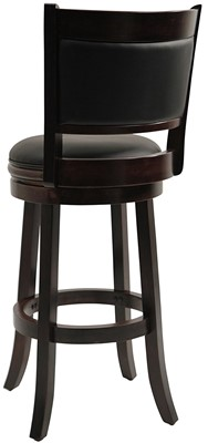 Boraam 48829 Augusta Bar Height Swivel Stool - leather bar stools with back swivel