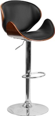 Flash Furniture Adjustable Bar Stool - bar stool with short back