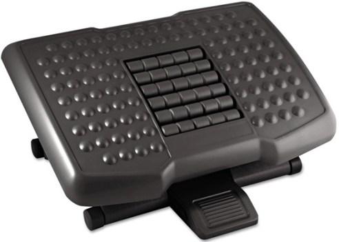 Kantek Premium Adjustable Footrest - small footrest for computer desk