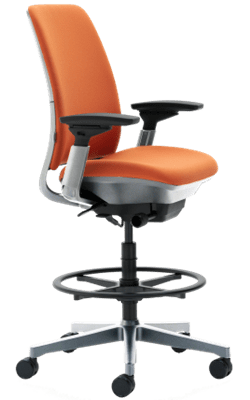 Steelcase Amia Fabric Stool - office task chair for short person