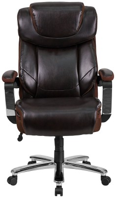 Flash Furniture Hercules - sitting in an office chair for bloggers