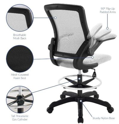 Modway Veer -Best Drafting Chair Reviews for Standing Desk