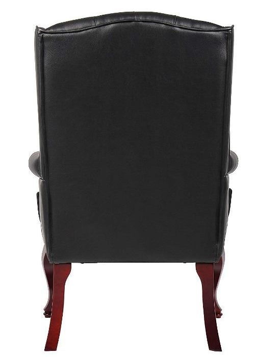 Boss Office Products B809-BK Wingback Traditional -Best Visitor Chair Reviews Amazon