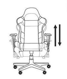 hauteur réglage fauteuil gamer