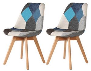 chaise scandinave patchwork la