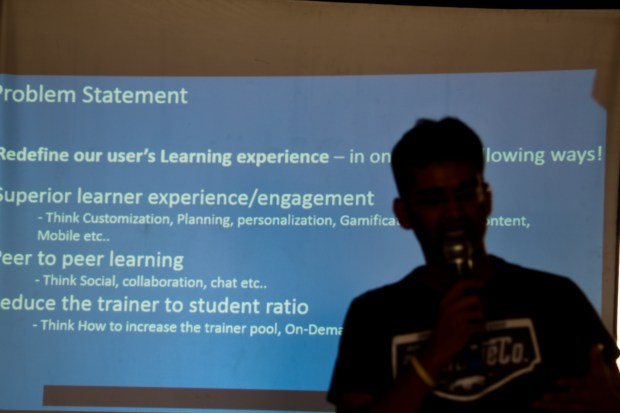 Product Head Giridharan Natarajan - Product Head, Simplilearn giving a brief to the participants
