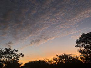 朝焼けと秋雲