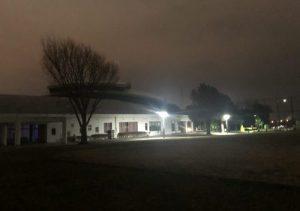 未明の清水ヶ丘公園体育館