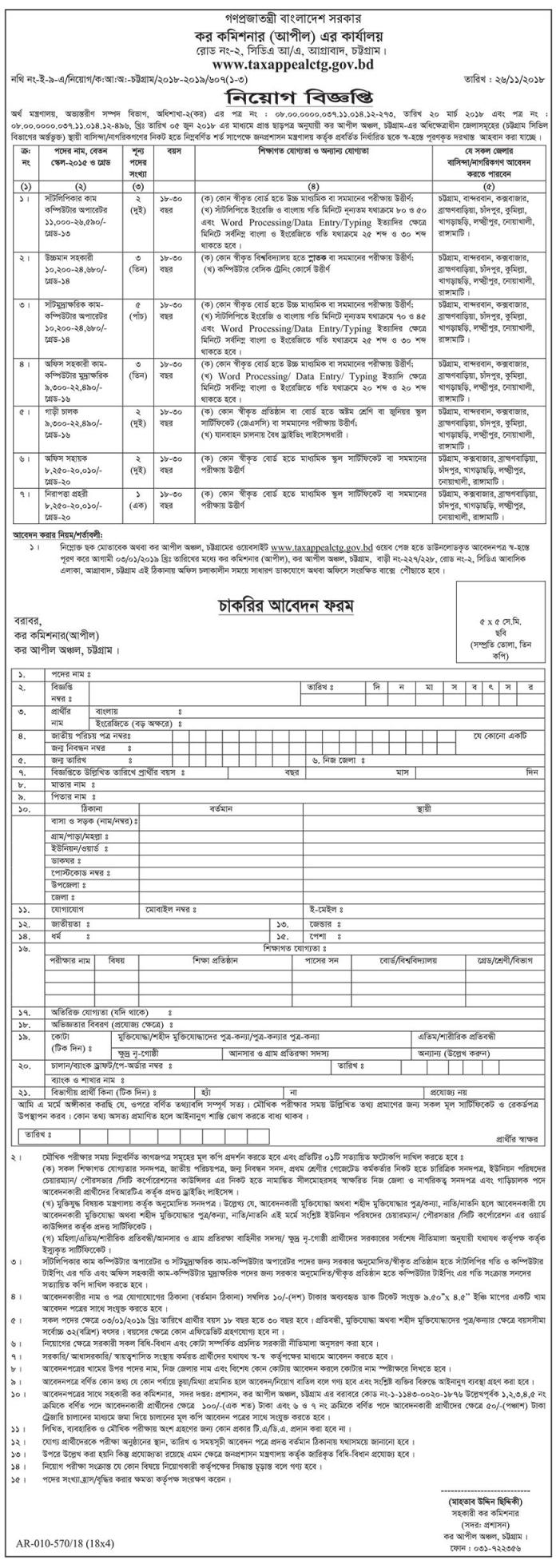 Tax Commission Job Circular