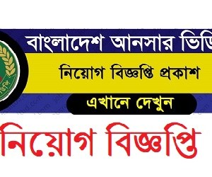 Bangaldesh Ansar VDP Job Circular