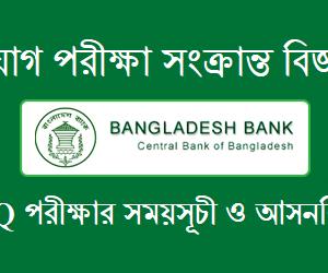 Bangladesh Bank Exam Date & Seat Plan