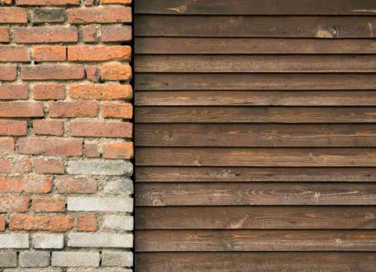 foto mostrando a combinação de alvenaria e madeira