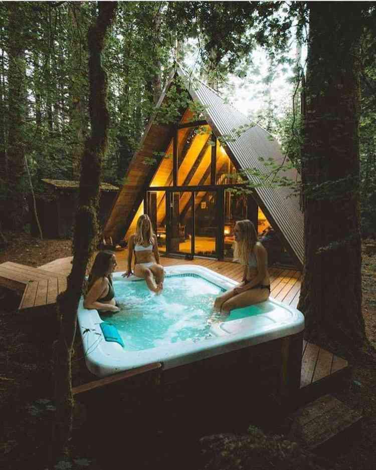 espaço também é ideal para relaxar e com amigos e família.