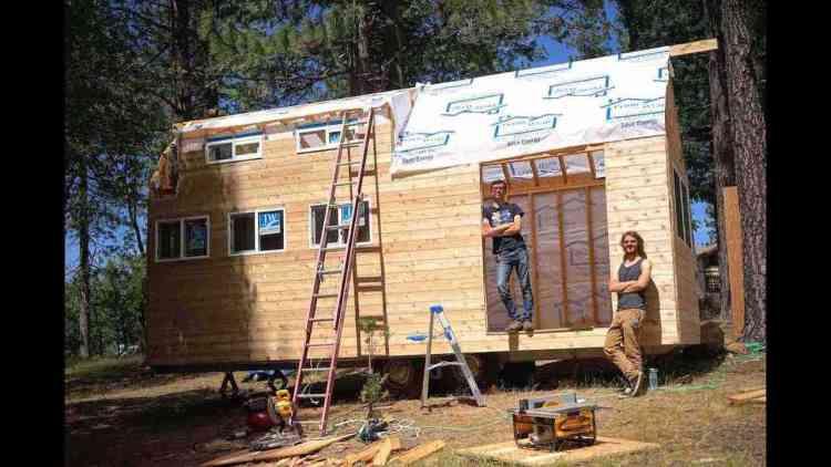 processo de construção de uma Tiny House DIY