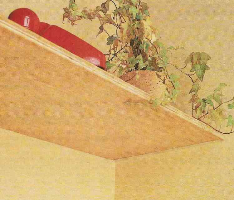 foto de instalação de prateleiras utilizando cantoneiras invisíveis