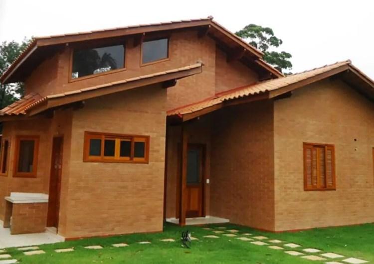 casa pré-moldada em tijolo ecológico