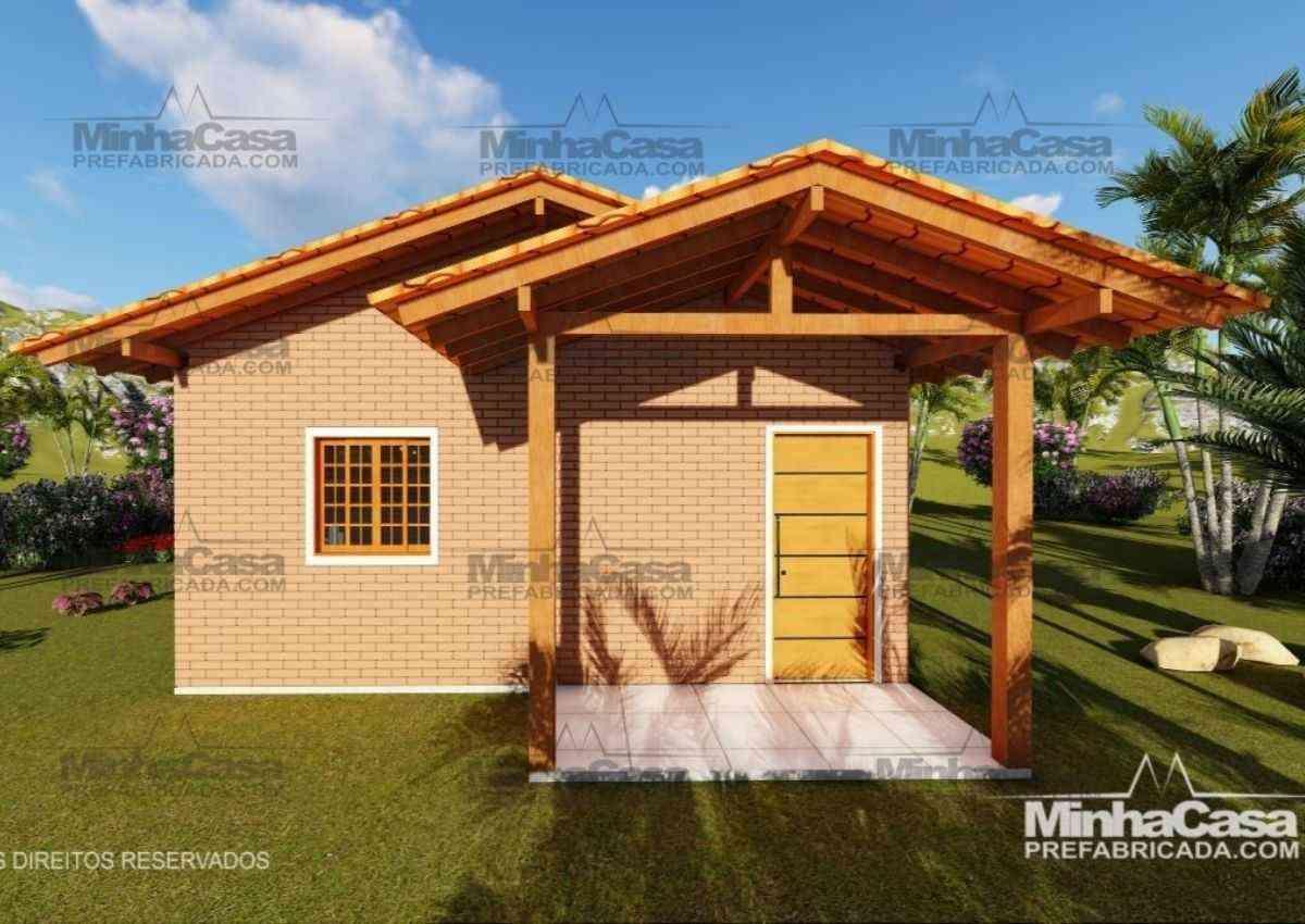 casas pré-fabricadas de tijolo ecológico kit de 1 quarto