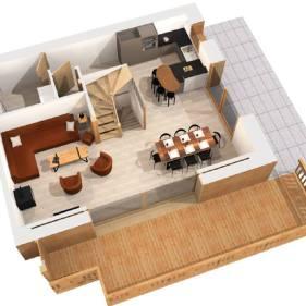 Chalet Arpitan floorplan 2