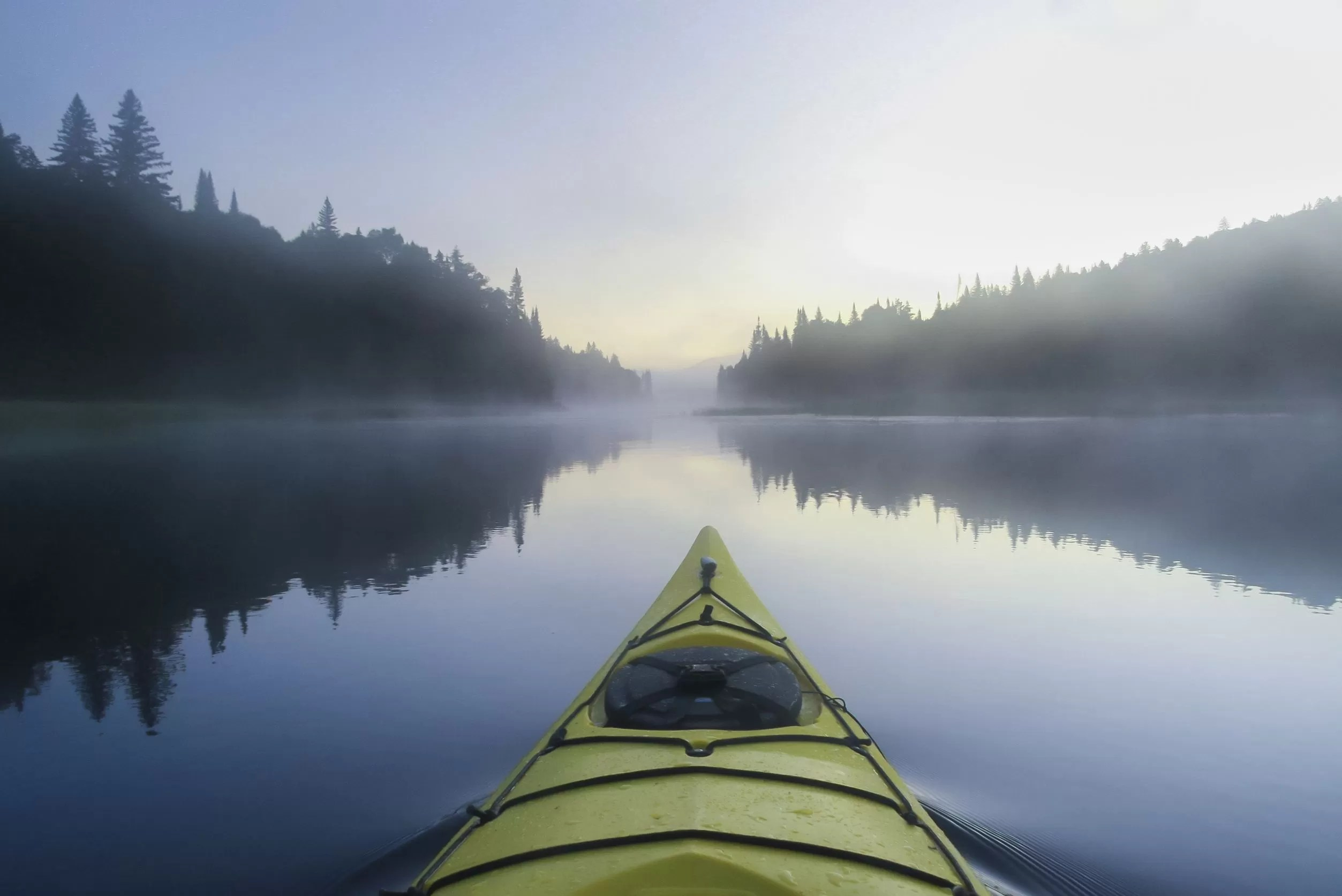 Kayak dans les laurentides