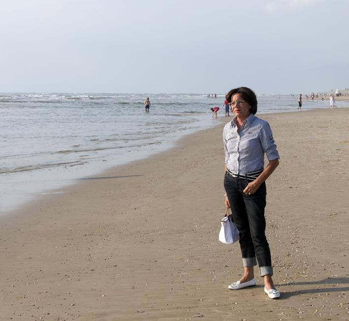 Ondanks het mooie weer weinig volk op het strand