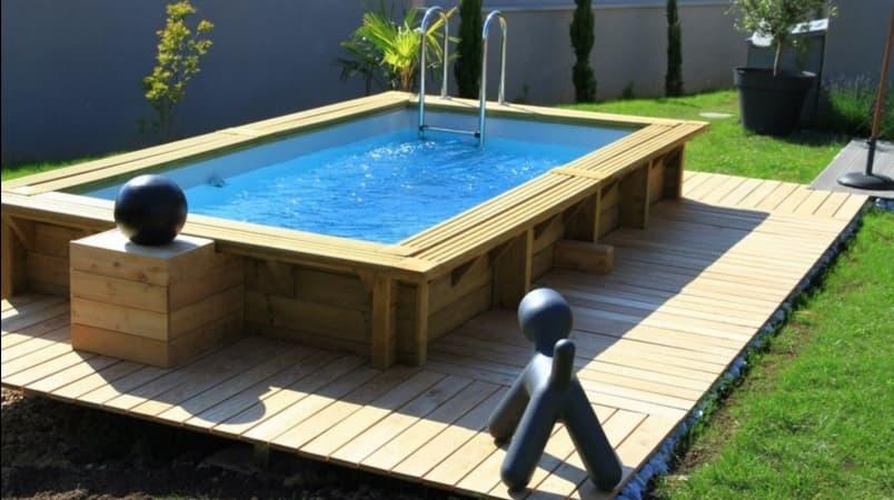 piscine 11 en bois rectangulaire d enfant de 3 50 x 2 00m en rupture jusqu au 31 05 21 livraison 10 15 jours apres