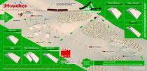 Station des houches, plan des pistes