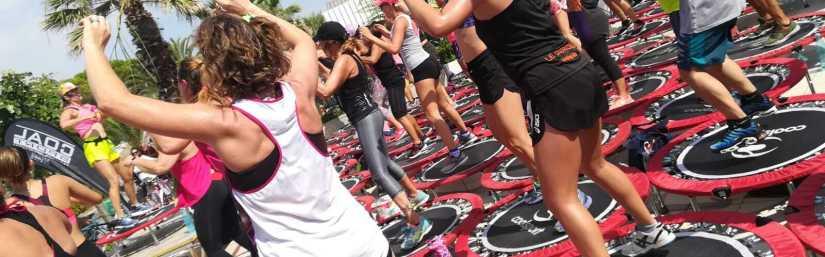 Jill Cooper a Chalet Solarium per una lezione di fitness