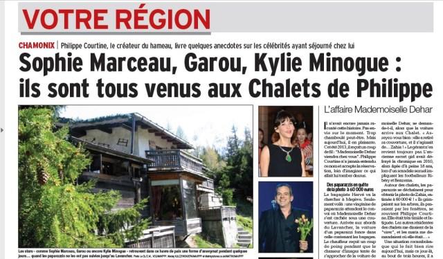 Article le Dauphiné - Hotel Les Chalets de Philippe Chamonix Mont-Blanc