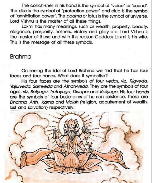 symbol of Lord Brahma Idol