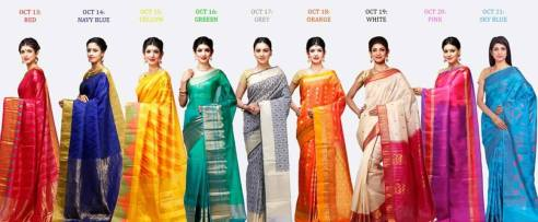 navratri colors for 9 days 2015