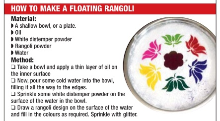 How to make a floating rangoli
