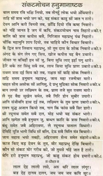 Sankatmochan Hanuman Ashtak