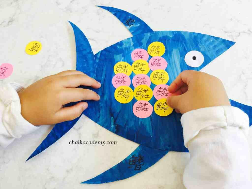 Educational Chinese Fish Anatomy Paper Plate Craft