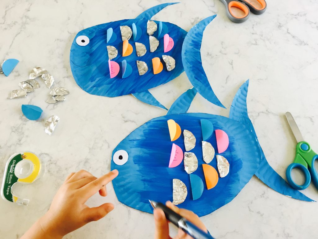 Chinese Activity For Kids Rainbow Fish Paper Plate Craft