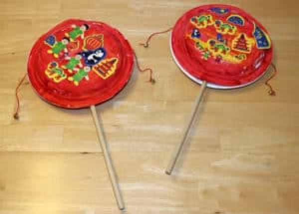Chinese Paper Drum Craft