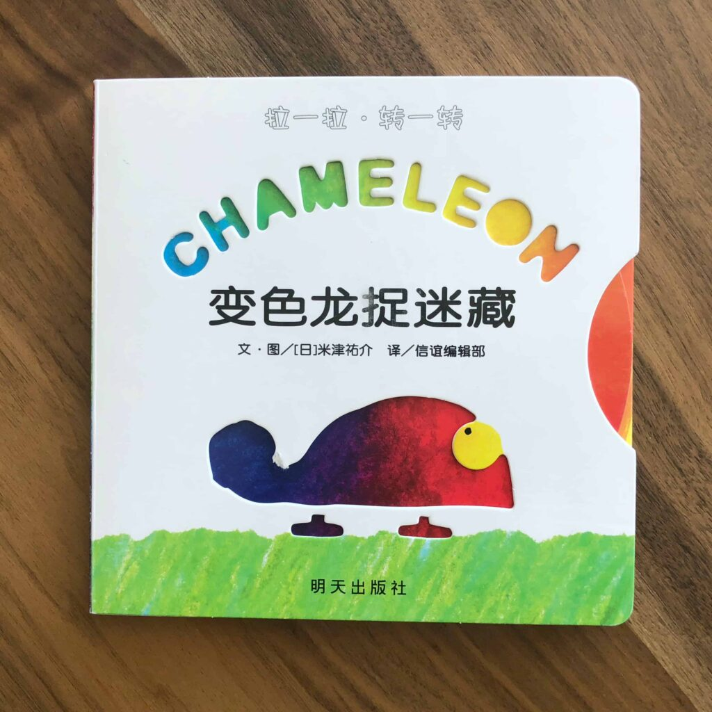 Rainbow Chameleon book by By Yusuke Yonezu paper plate craft