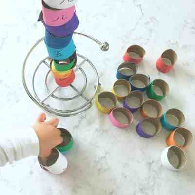 Number & Color Patterns With Recycled Paper Rolls