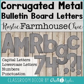 corrugated metal bulletin board letters rustic farmhouse chic