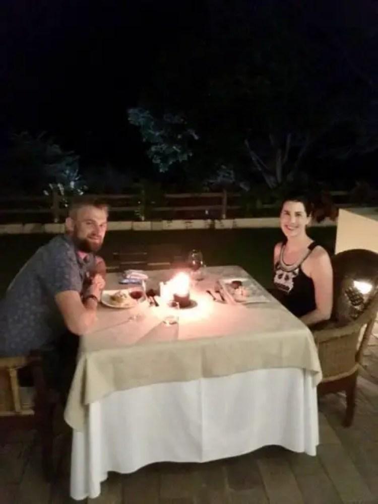 Lovely dinner at the palms