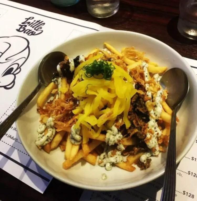 Loaded fries Little bao one of the finest Hong Kong restaurants