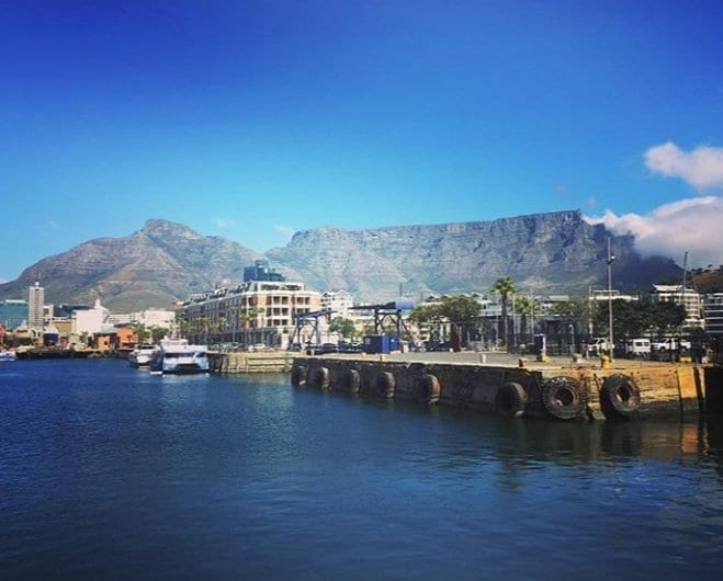 View of Table Mountain from the V & A waterfront