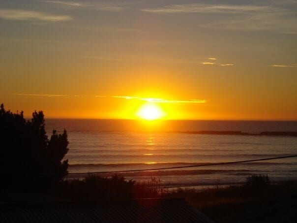 sunset gold coast beach