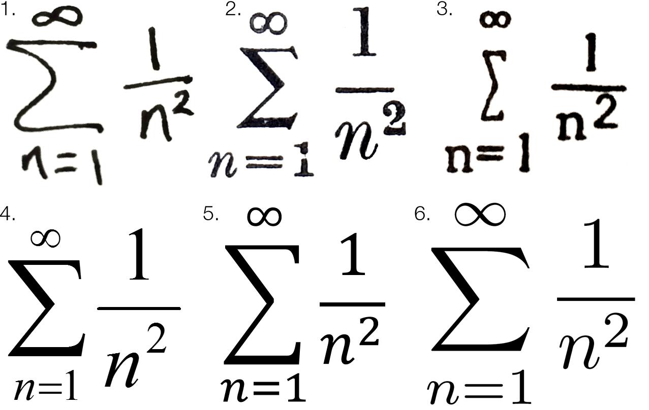 Cambria Math Symbols
