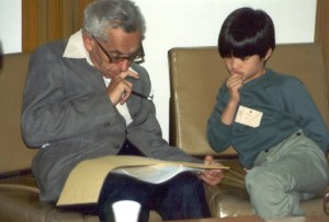 Paul Erdös with a young Terence Tao