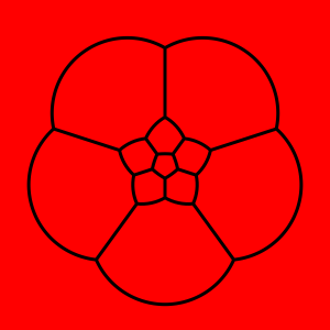 Stereographic projection of a dodecahedron
