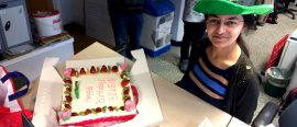 Cutting my birthday cake