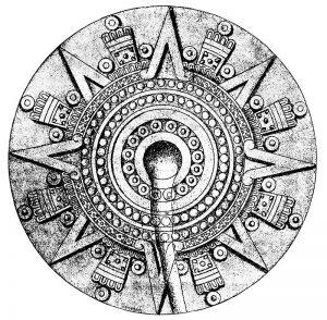 Sun dial of the stone of Tizoc.