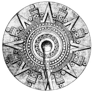 Sun dial of the stone of Tizoc.