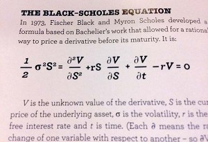 Black--Scholes equation, badly typeset