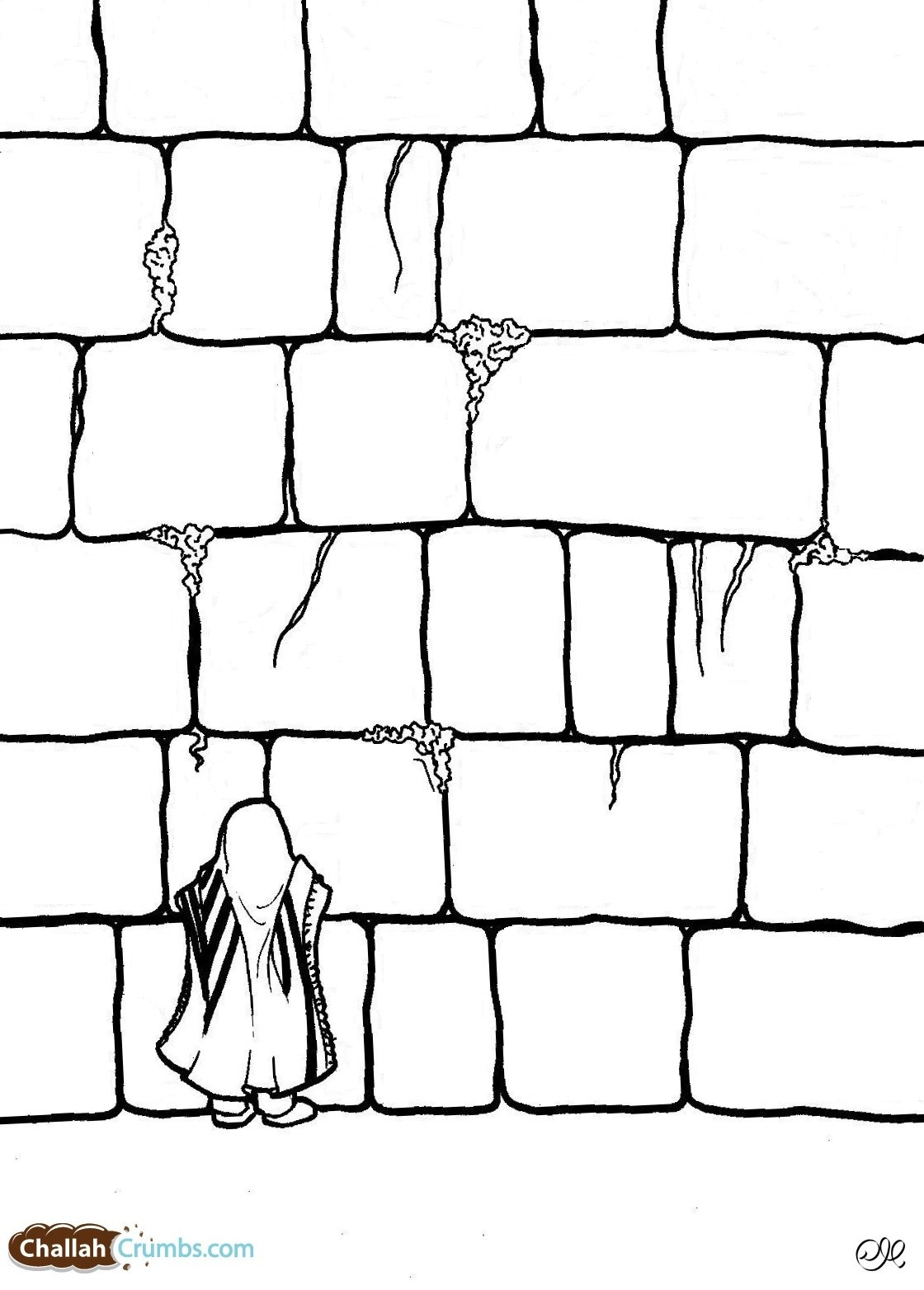Western Wall Coloring Pages Sketch Coloring Page